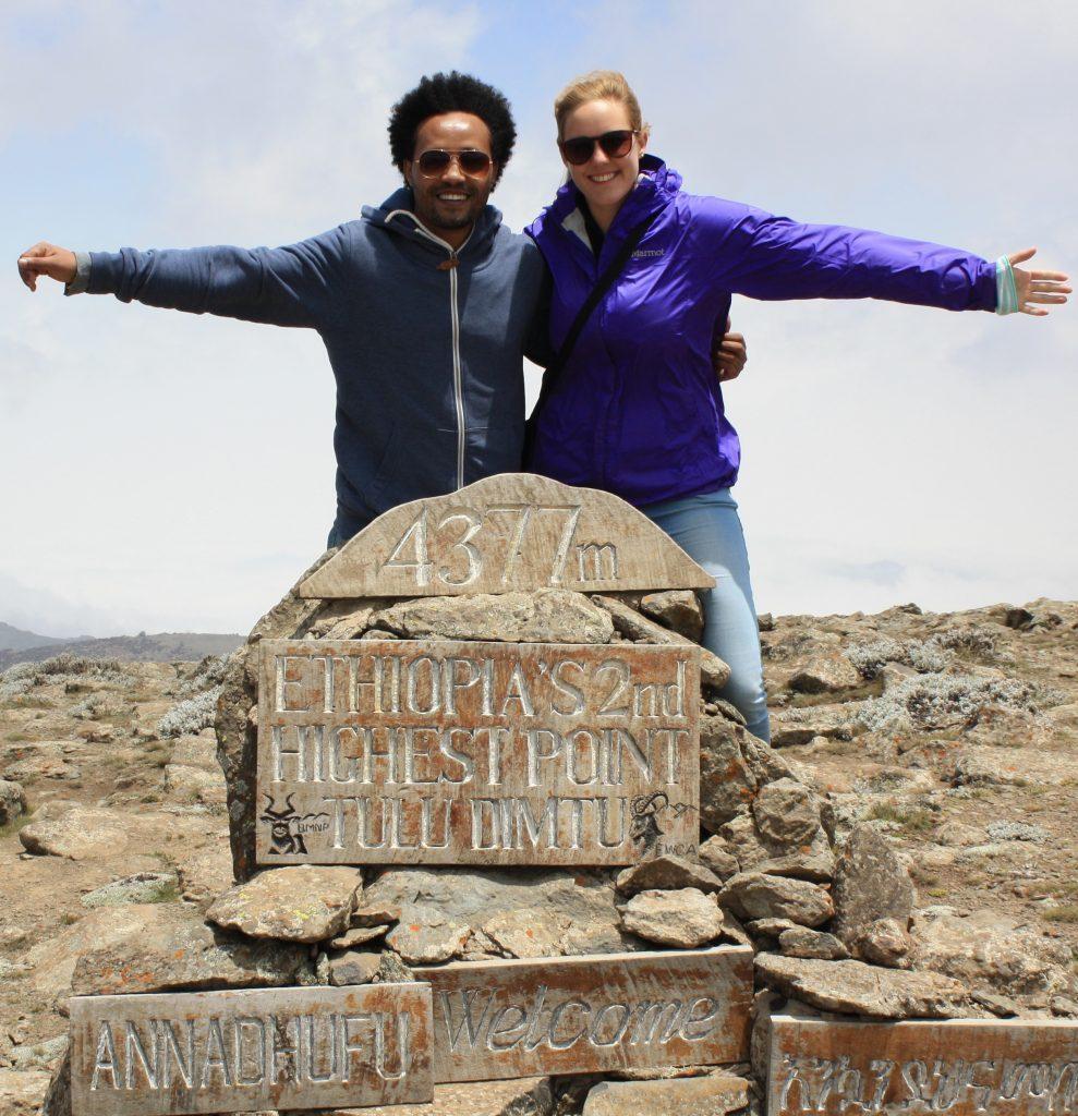 Äthiopien Reisen -Gipfel des Tulu Dimtu