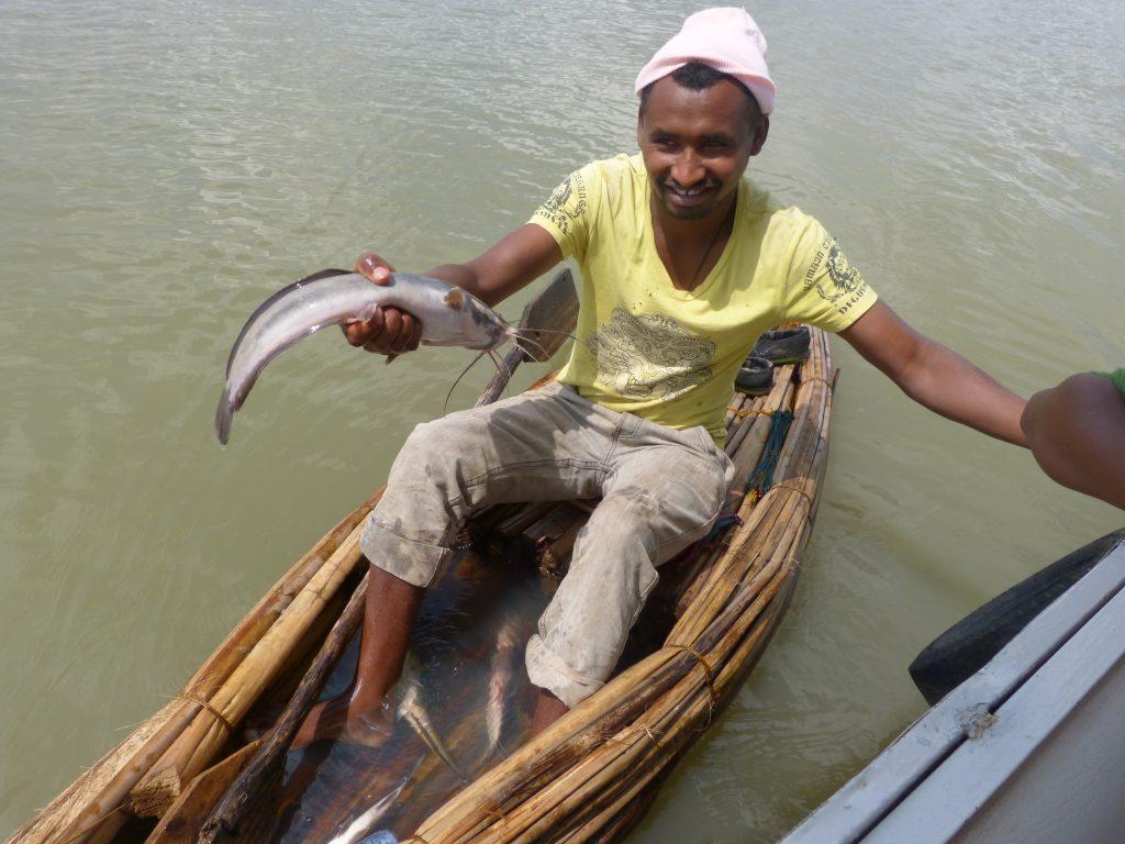 Äthiopien Urlaub - Fischer auf dem Tanasee