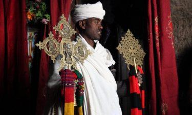 Äthiopien Reise - Mönch in Lalibela