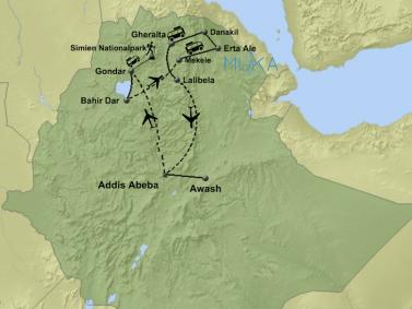Äthiopien Aktivreise AA01