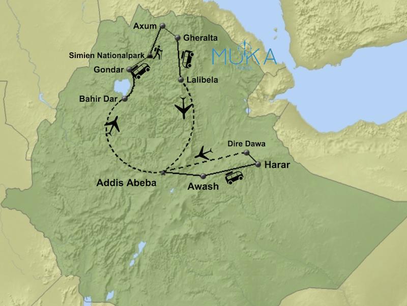 komfort Äthiopien Rundreisen aktiv HA02