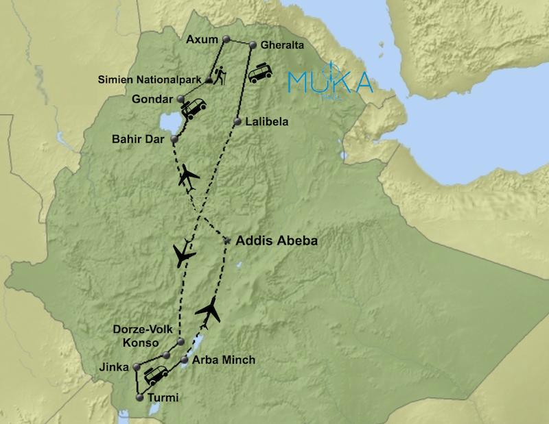 komfort Äthiopien Gruppenreisen aktiv HA03