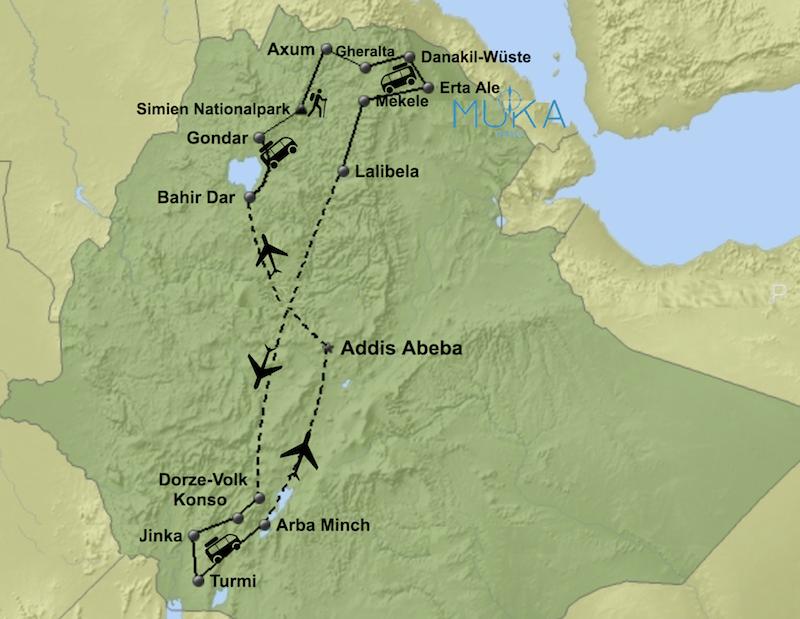 komfort Äthiopien Reise aktiv HA04