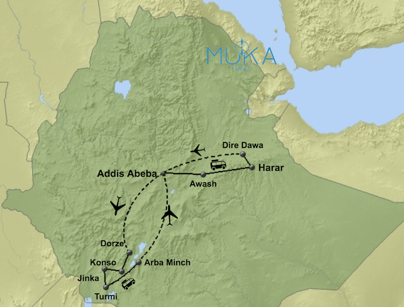 komfort Äthiopien Reisen aktiv KT01