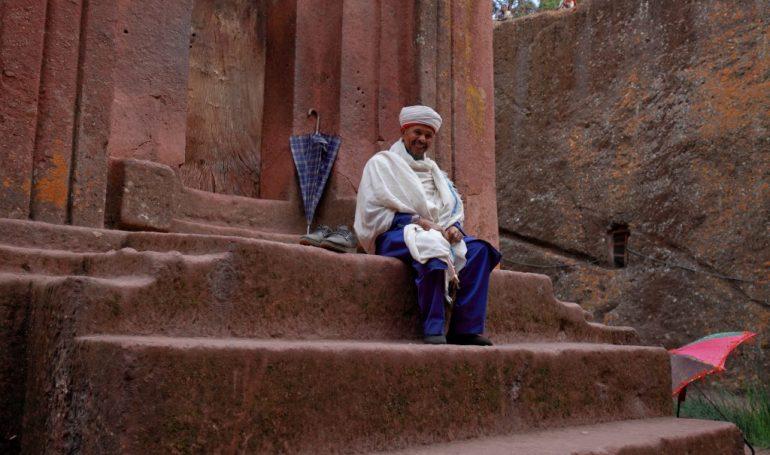 Äthiopien Kulturreise - Lalibela Mönch