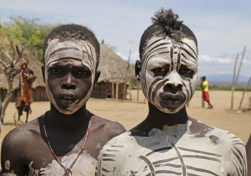 Äthiopien Reisen - Karo Volk