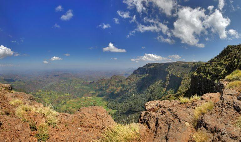 Äthiopien Reisen - Panorama im Simiengebirge
