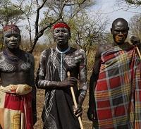 Kulturreise Äthiopien - Mursi Männer